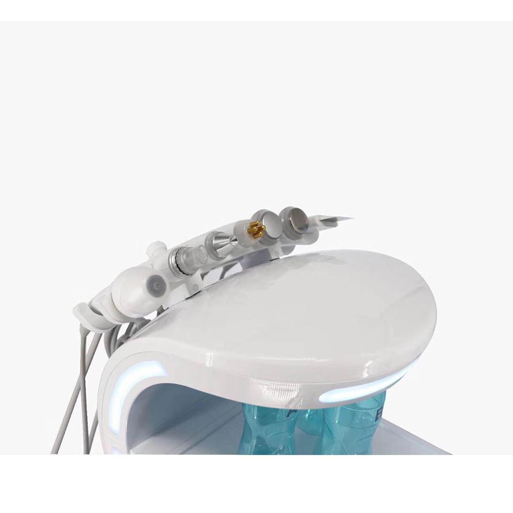Multifunction Smart Ice Blue Ultrasonic RF Aqua Skin Scrubber Oxygen Machine with skin scanner analyzer
