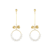 Shockingly adorable real gold plated 925 Sterling silver 3A CZ Bowknot stud earrings jewelry earring