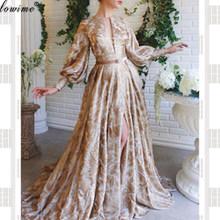 Женское винтажное платье с рукавами, вечерние платья с красной ковровой дорожкой, платья знаменитостей турецкой моды 2020(Китай)
