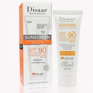 Best selling Disaar spf 90 sunblock moisturizer whitening organic sunscreen cream for all skin