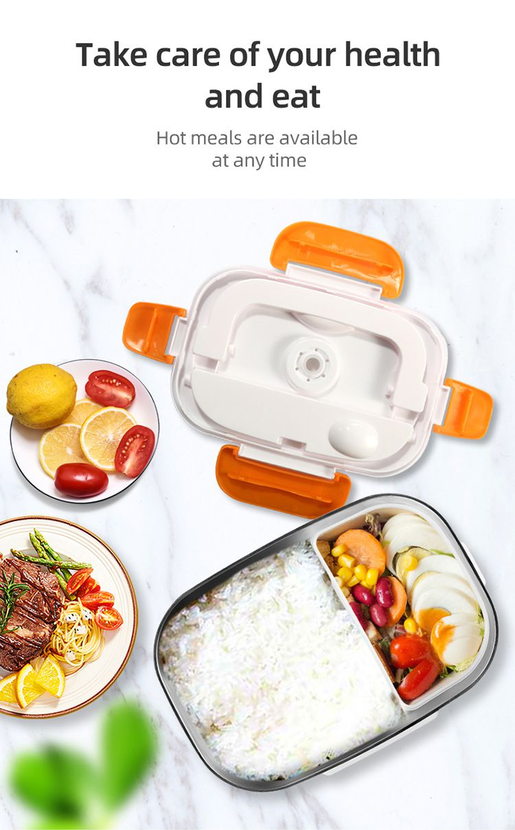 Amazon top seller 110-220V 40W easy to clean portable stainless steel electric heater lunch box