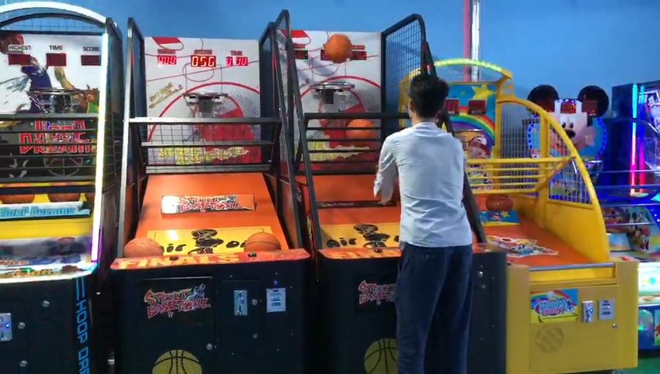Muntautomaten Arcade Shooting Machine Basketbal Indoor Sport Game Machine Basketbal Machine