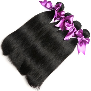 Raw Human Hair Bundles With Korean Lace Frontal Wholesale Hair Product In US Straight Hair Bundles With Closure