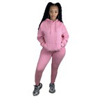 Sets Set Autumn Solid Color Women Casual Hooded Sweatshirt Sets Loose Sweatsuit Sporty Outfits Ladies Tracksuit 2 Piece Set