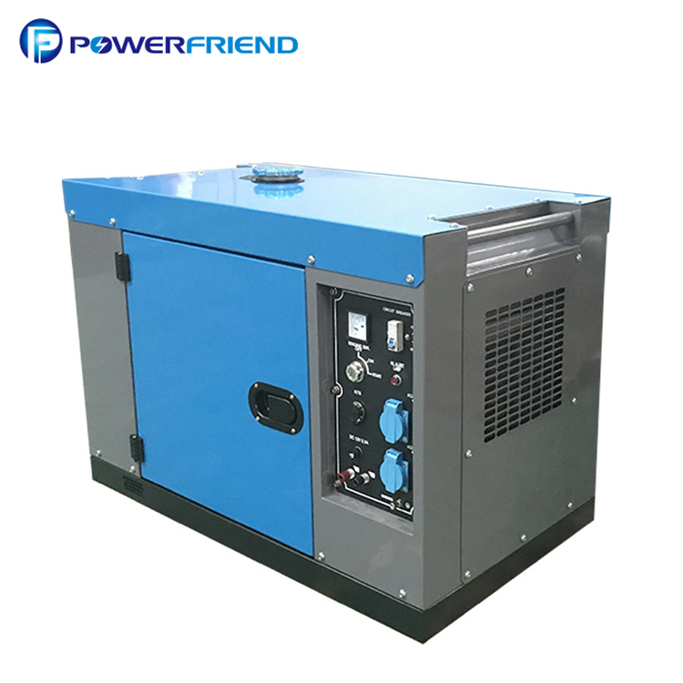 220v power air cooled portable silent diesel 7.5 kva generator with wheels