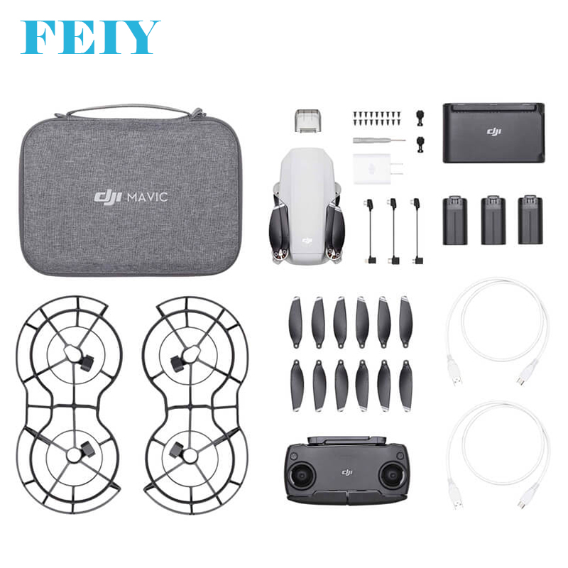 Radyo kontrol oyuncaklar Drone resmi bayi gerçek Gps Full Hd Dji Mavic Mini Drone Fly daha Combo Drone kamera ile
