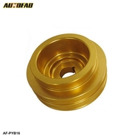 AUTOFAB Light Weight Crank Underdrive Engine Pulley Gold For HONDA CIVIC 92-00 B16 Z0132 B16A B18C AF-PYB16
