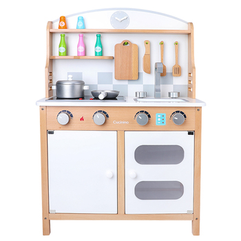 New design Wholesale Preschool Educational Wooden Kitchen Set Toys for Pretend play Cooking Toys