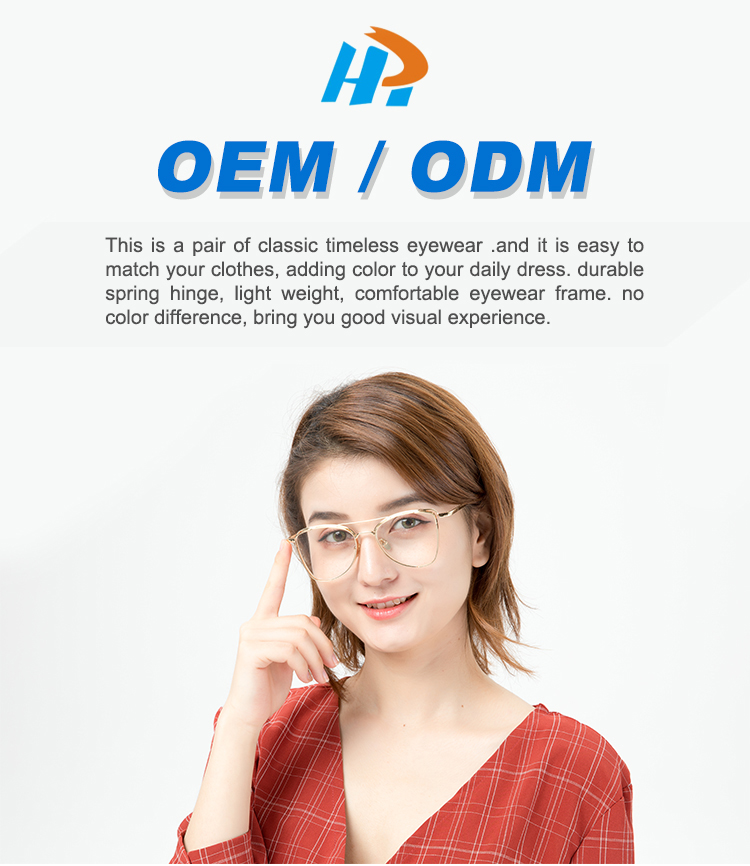 Factory Supply Men Metal Optical Eyeglasses Frames