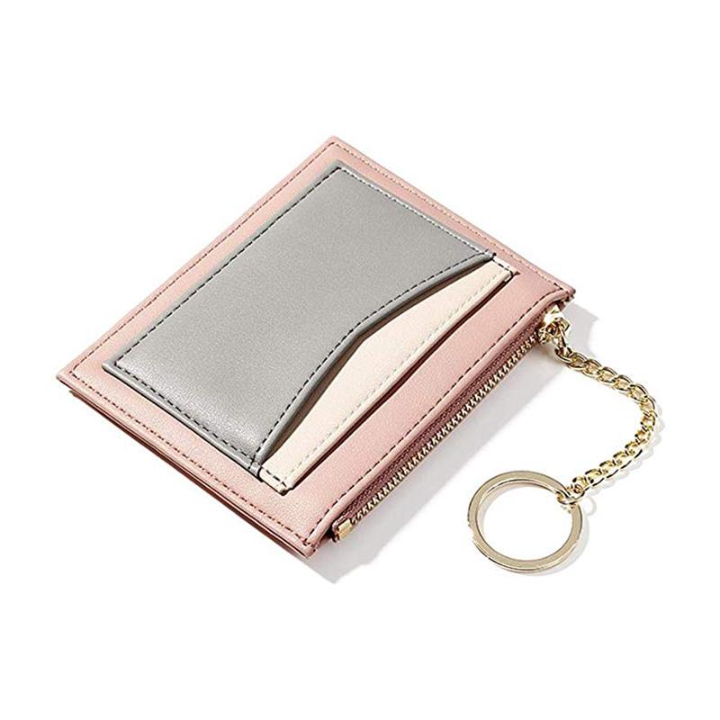 Передний карман бумажник мужчины тонкий минималистский Rfid Блокировка Pu кожаный тонкий кошелек мужчины
