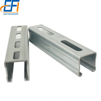Alibaba Supplier C Shaped Slotted Steel Unistrut C Channel