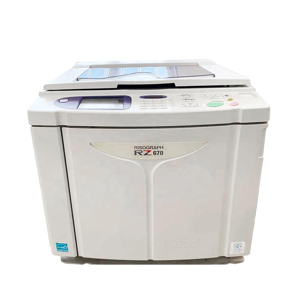 refurbished risos digital duplicator machine risographs RZ670 A3 used printer copier