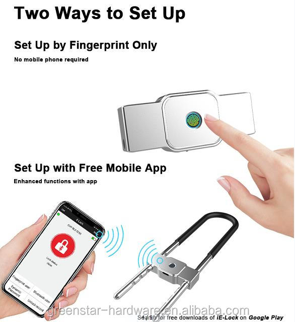 Mini Size Portable Greenstar Smart home system fingerprint lock