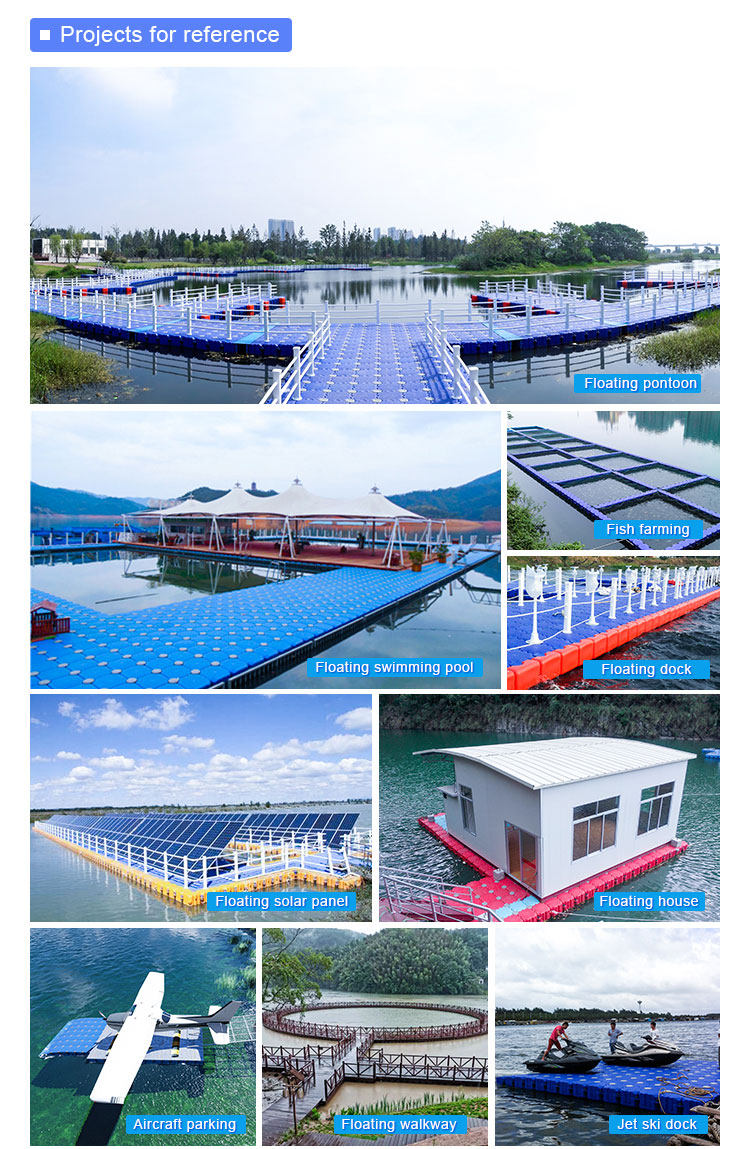 Submarine floating dock plastic pontoon cubes hive hexagon cube fluiconnecto marine