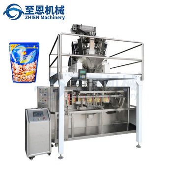Mixed nuts and dried fruits coconut almonds automatic vertical doypack packaging machine thailand