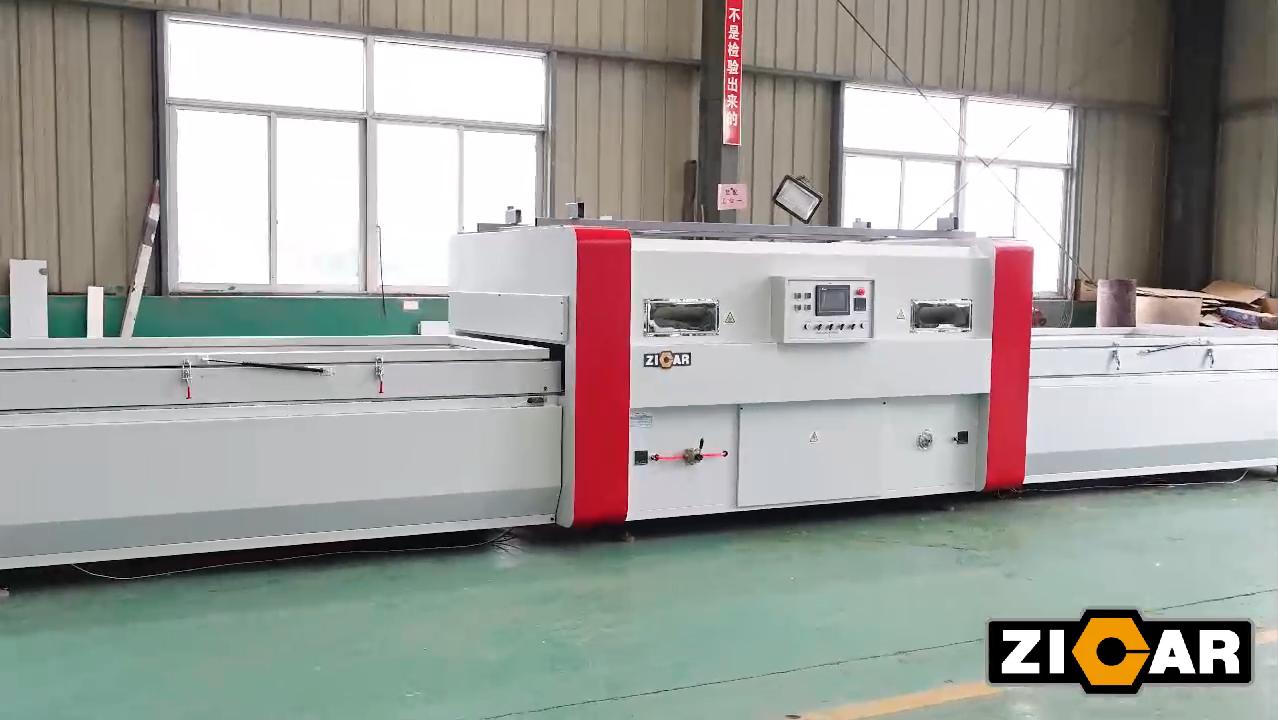 ZICAR 목공 Pvc 도어 라미네이팅 기계 TM2480E