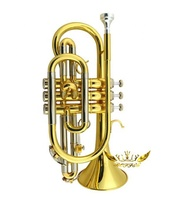 Roffee Gold Lacquer Bb Key Brass Cornet