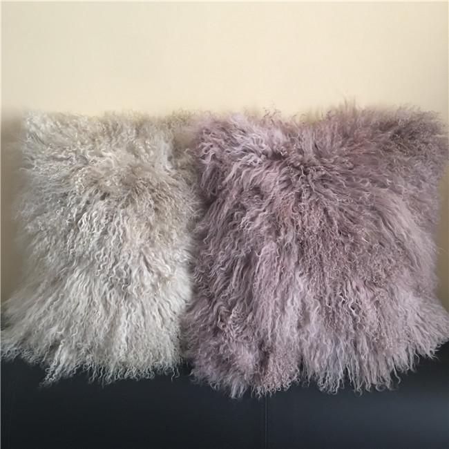 2020 new design long hair sheepskin cushion