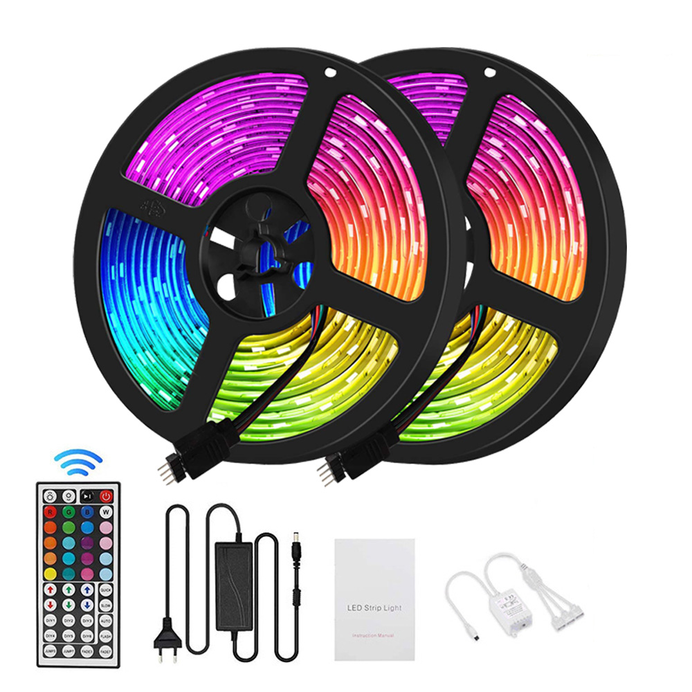 Smart Voice Control Flexible 5050 RGB Waterproof LED Strip Lights 5m 12v Bande With IR Remote Control