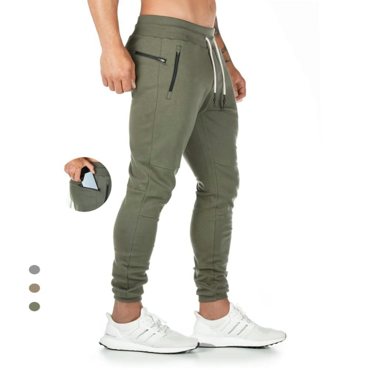 Casual Gym Workout Track Pants Comfortable Slim Fit Tapered mens Sweatpants with Pockets