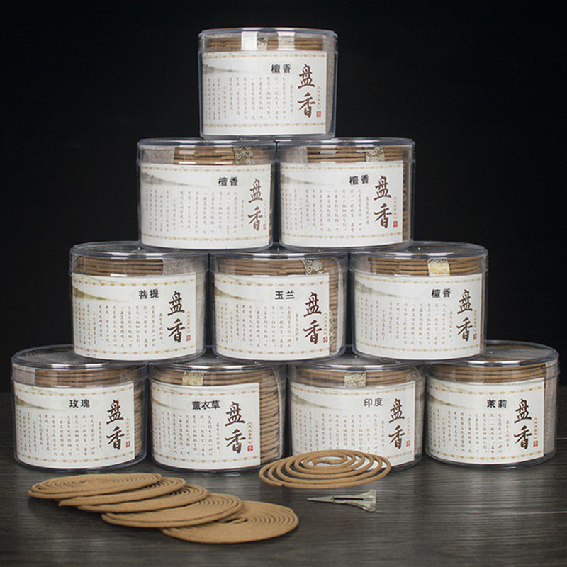 48 pièces/boîte Bobines De Bois De Santal Naturel Aromathérapie Fabricant D'épices Antiseptique Rafraîchissant Parfum D'intérieur Encens