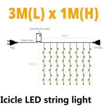 AC 220 В в форме сосульки светодиодный уличный светильник 1,5x1,5 м/3x2 м/6x4 м сетчатая гирлянда наружное освещение для наружного садового ландшафт...(Китай)