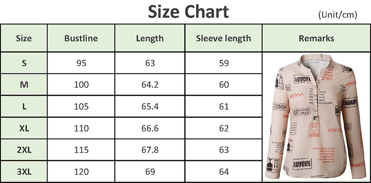 YHSY100 2020 Spring Summer and Autumn fashionable letters print V-neck button long sleeve plus size women blouses