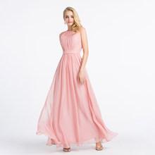 Alagirls иллюзионное кружевное платье с открытой спиной 2020, платье без рукавов с рюшами, простое шифоновое платье подружки невесты с рюшами, дли...(Китай)