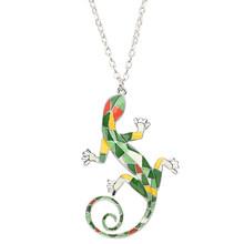 Ожерелье-чокер Gecko Ящерица из эмалированного сплава Bonsny, ювелирные изделия в форме капли с животными для женщин, девочек, подростков, детей, ...(Китай)