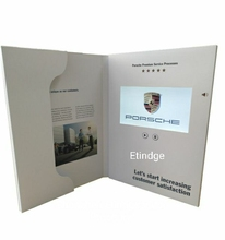 Hoge resolutie video speler Digitale video boek LCD touch screen video brochures met binnenzak