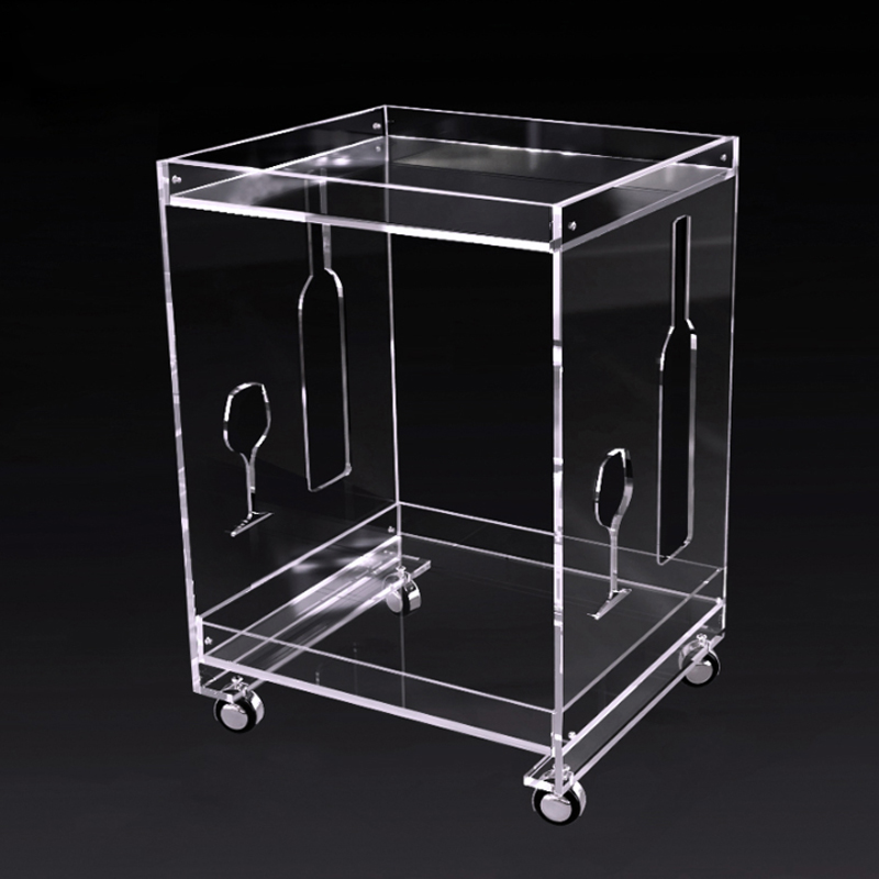 Modern Acrylic Office Side Table/Acrylic Office Coffee Table/Acrylic Office Furniture with Wheels