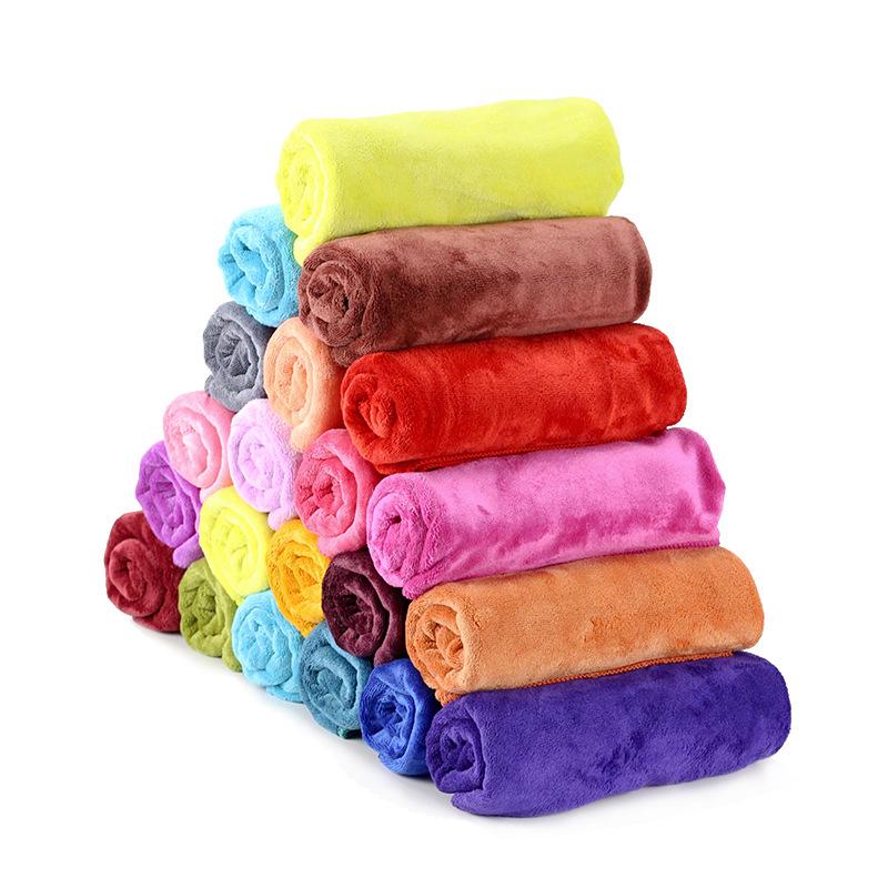 Serviette de Salon de coiffure bon marché multicolore 400gsm serviette en microfibre Super absorbante