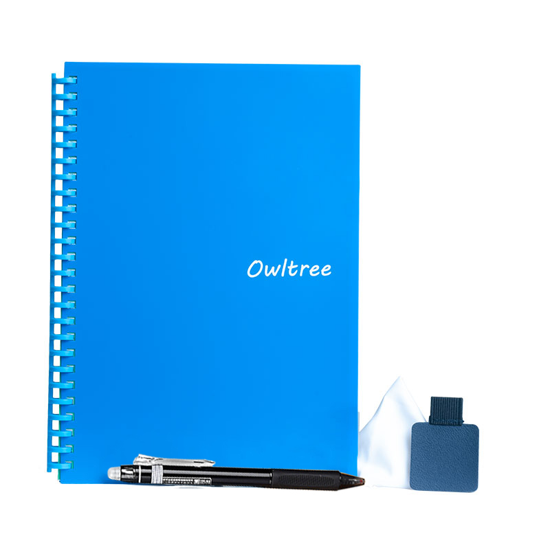 Owltree B5 Size Hot and Wet Erasable Reusable Writing Waterproof Recycled Scannable Smart Notebook like Rocketbook