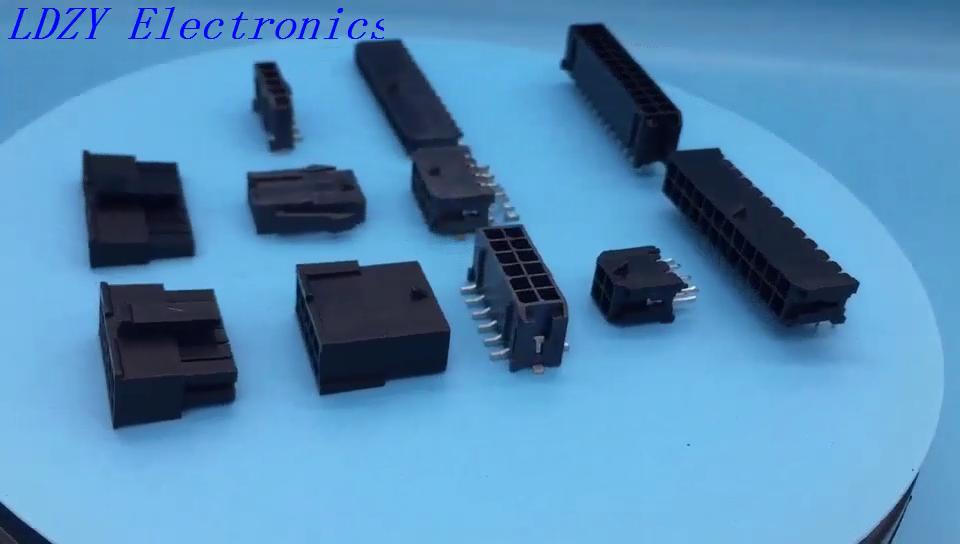 Molex 436500212 micro fit 3.0mm pitch equivalent 2 pins right angle SMT PCB connector C3030WRS LDZY made