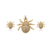 65599 Xuping new arrival custom insect design 14k gold plated copper jewelry set for children