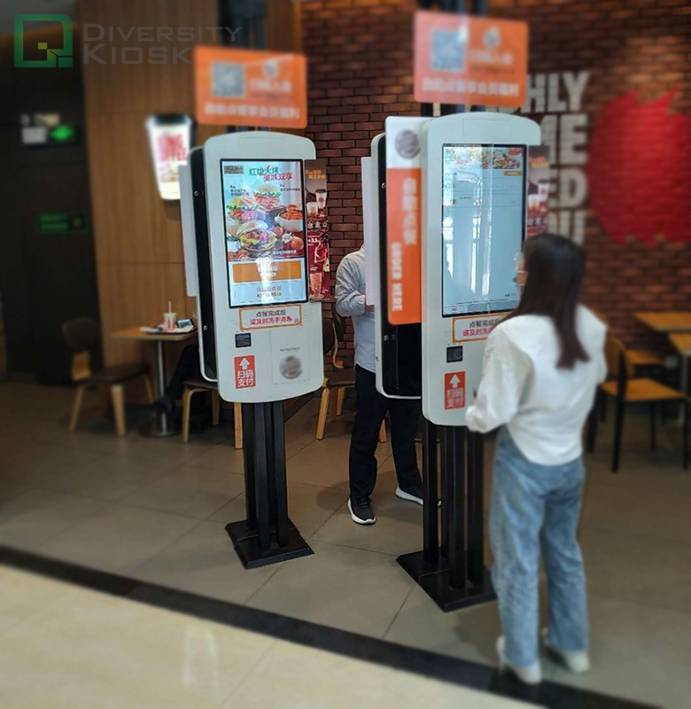 Cheap price food machine self ordering kiosk payment with CE certificate