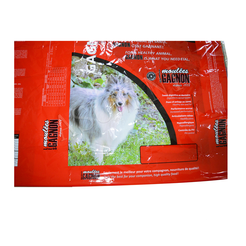 Custom Stand Up Pouch Recycled Food PE Plastic Pet Food Bag