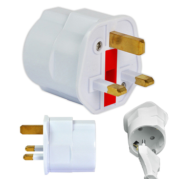Multifunctional EU to UK Plugs Adapter EU to UK Plugs Power Converter Plugs 2 Pin Socket EU to UK Travel Adapter