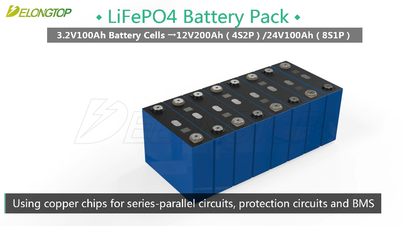 Rechargeable Lifepo4 battery 12v 200ah 2.5kwh for Home Energy System