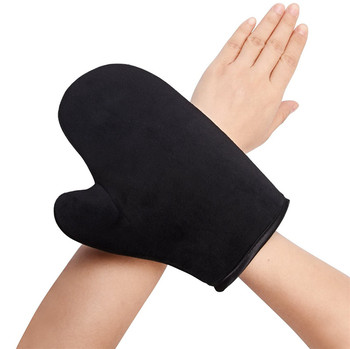 Self Tanning Mitts Applicator for Black, Face & Body Sunless Tanner, Double Side Padded Microfiber Thumb Gloves