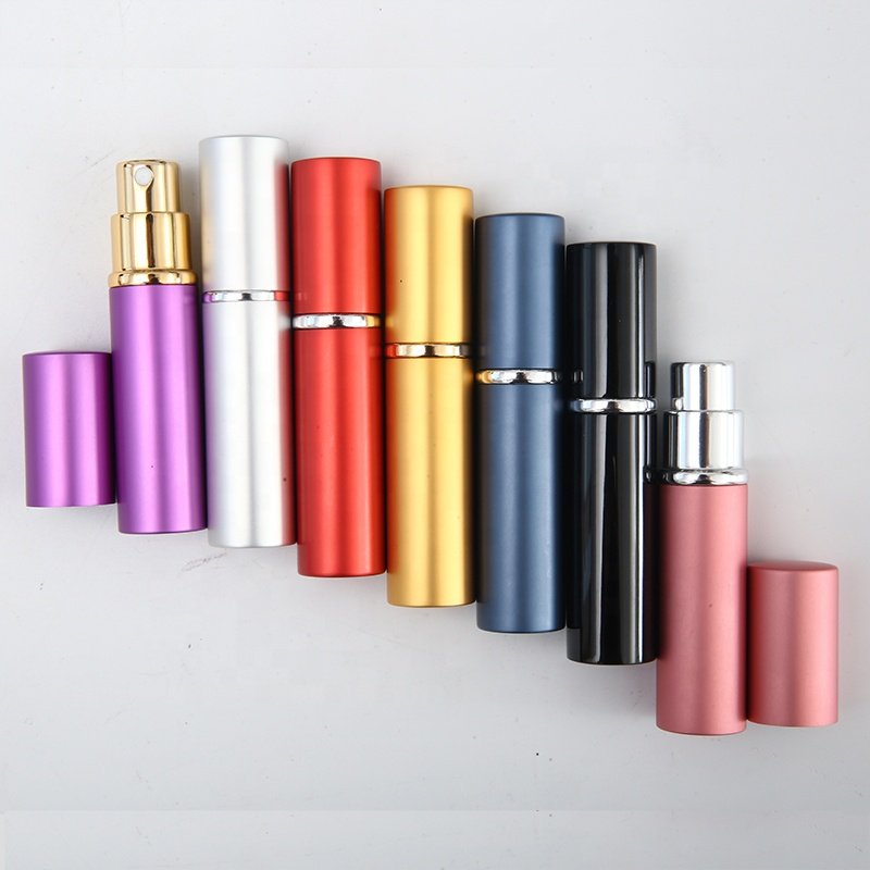 10ml Round <strong>Empty</strong> Mini Mist Aluminum <strong>Perfume</strong> Atomizer Refillable Spray <strong>Bottle</strong>