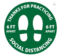 Distance Sticker Sign Social Distancing Floor Decal
