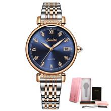 LIGE бренд SUNKTA Новый Для женщин часы Бизнес кварцевые часы дамы Топ Роскошные Брендовые женские наручные часы для девочек часы Relogio Feminin(China)