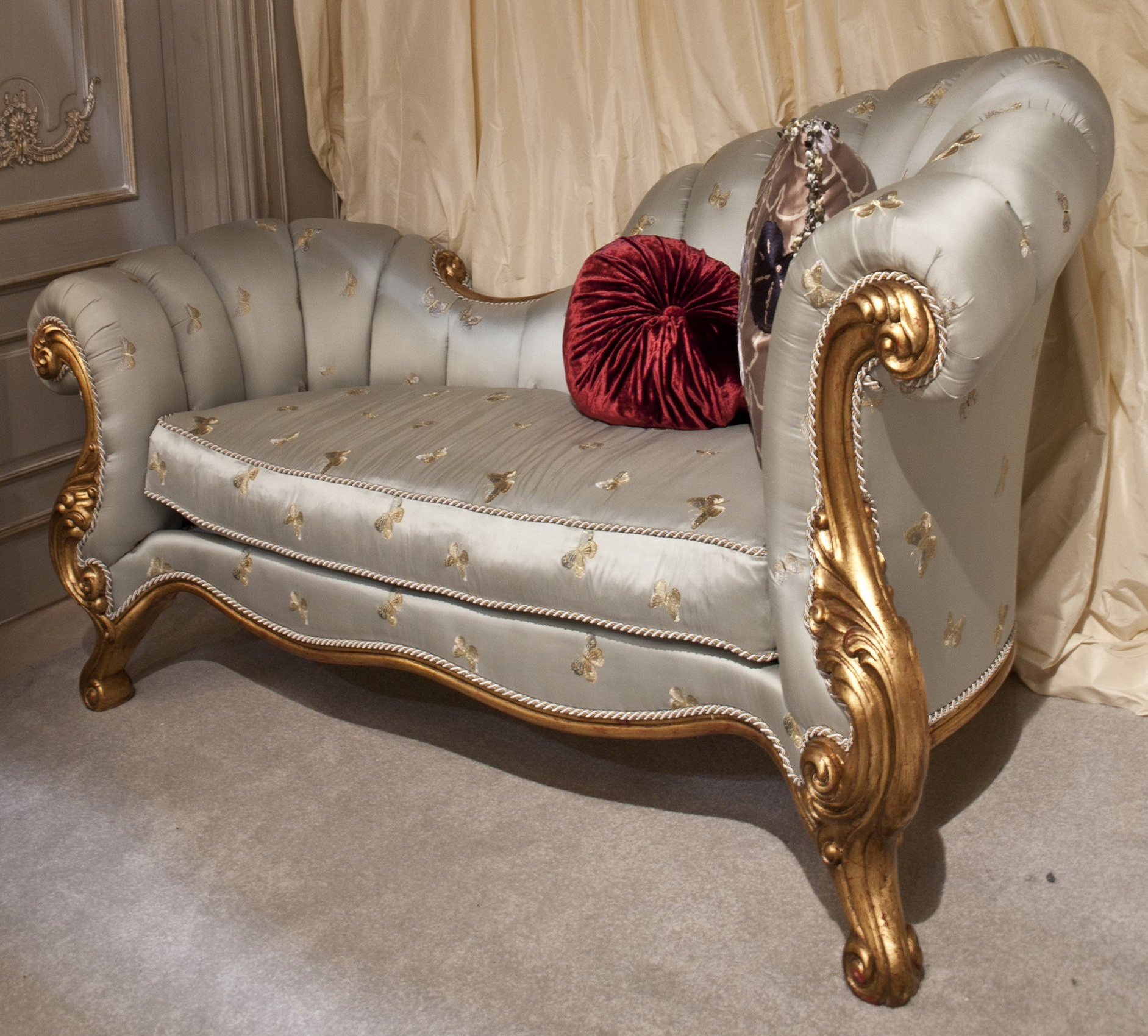 Indian Wedding Gold Curved 2 Seater