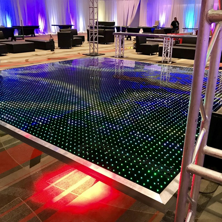Сценическое освещение до 20x20ft пикссветодио дный ель беспроводной led плитка Магнитная цифровой танцпол