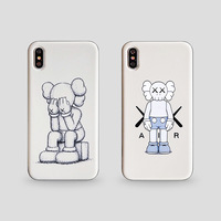 Kaws Cartoon Sesame Street phone case for iPhone 6 6s x xr xsmax for ipone 7/8/6Splus Silicone Case