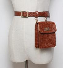 Mihaivina, поясная сумка аллигатора для женщин, кожаный ремень, поясная сумка, мини сумка на плечо, дамские поясные сумки, нагрудная сумка, сумка ...(Китай)