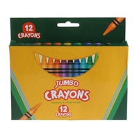 back to school 12pcs non toxic wax crayons jumbo with color box for children