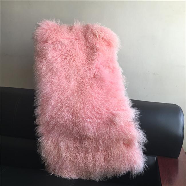 Custom size thick lamb fur carpet mongolian sheep fur rugs