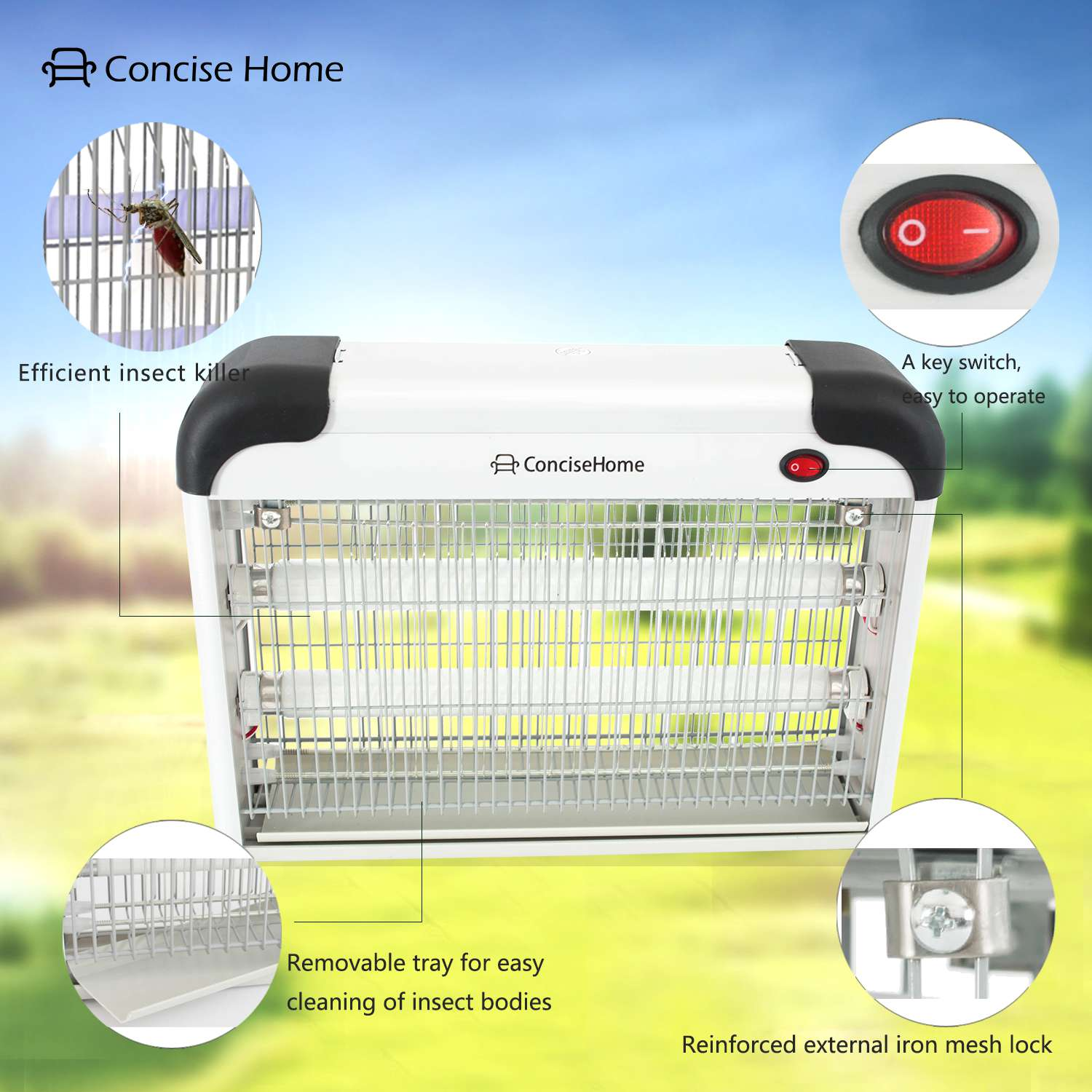 20W UV Mosquito lamp Attract to Zap Playing Excellent Role as Bug Insect Zapper Fly Swatter Wasp Killer Electric Fly Killer